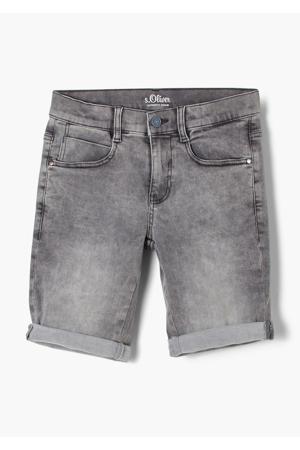 regular fit jeans bermuda grijs