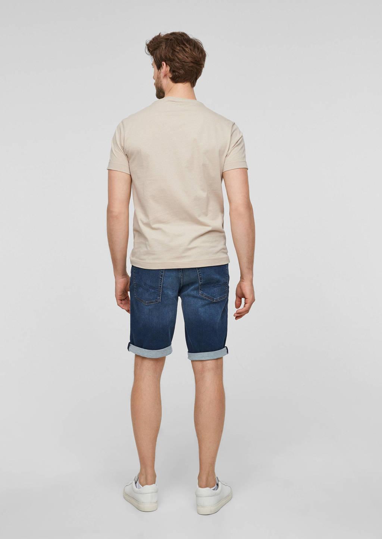 Q/S designed by regular fit jeans short blauw, Blauw