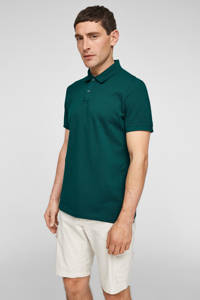 s.Oliver regular fit piqué polo met logo groen, Groen