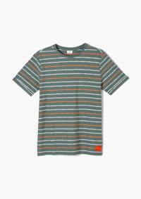 s.Oliver gestreept T-shirt groen/oranje, Groen/oranje