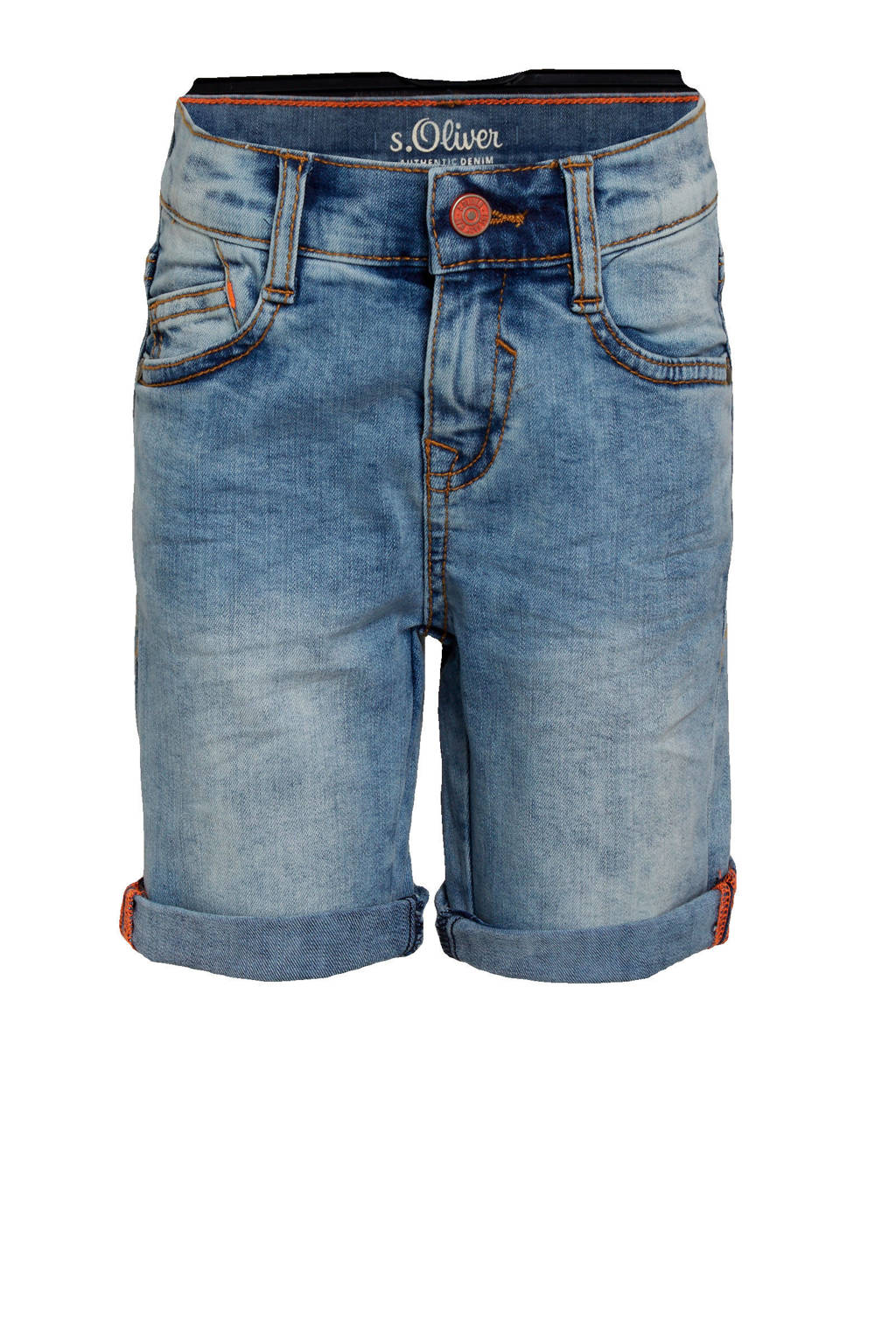 s.Oliver jeans bermuda blauw, Blauw