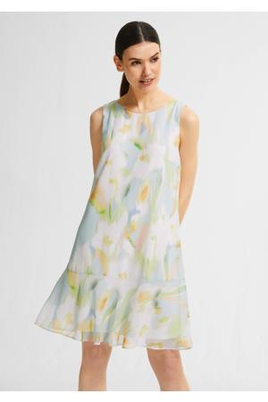 A-lijn jurk met all over print lichtblauw/lichtgroen