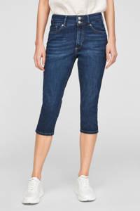 s.Oliver high waist slim fit capri jeans dark denim, Dark denim