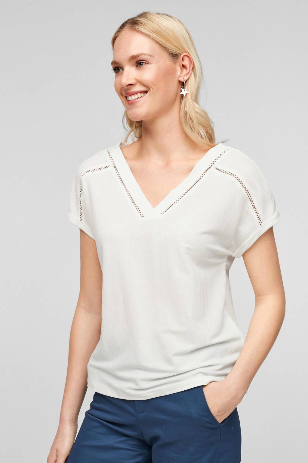 s.Oliver T-shirt ecru, Ecru