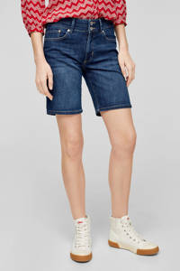 s.Oliver straight fit bermuda dark denim, Dark denim
