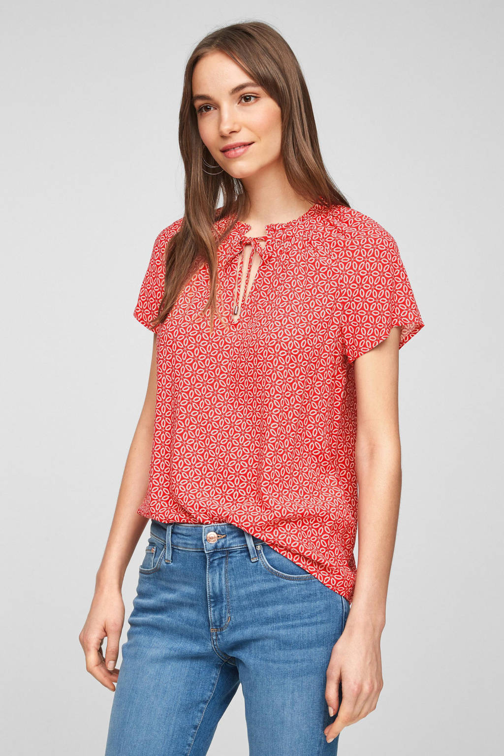 s.Oliver top met all over print rood, Rood