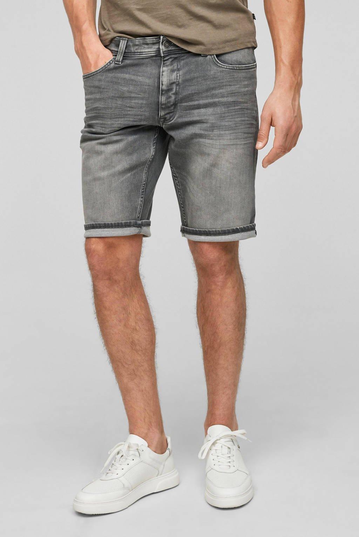 Q/S designed by regular fit jeans short grijs, Grijs