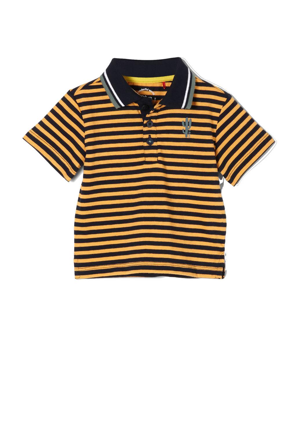 s.Oliver baby gestreepte polo oranje/zwart, Oranje/zwart