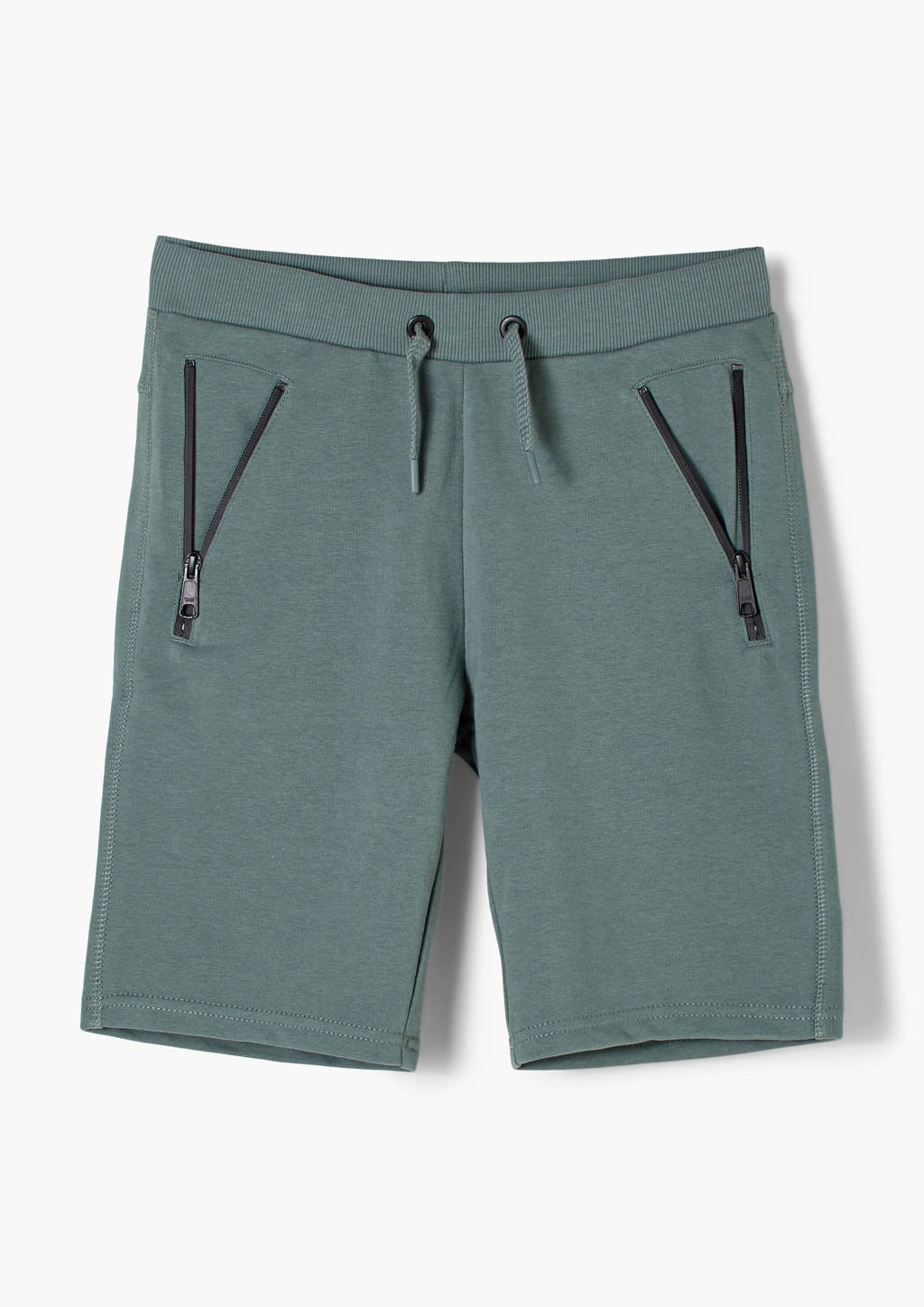 s.Oliver regular fit sweatshort groen, Groen
