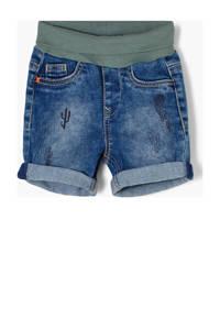 s.Oliver baby regular fit jeans bermuda blauw, Blauw