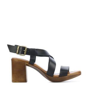 79364  leren sandalettes zwart
