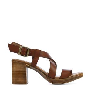 79364  leren sandalettes bruin