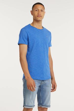 gemêleerd T-shirt Jaspe met biologisch katoen liberty blue