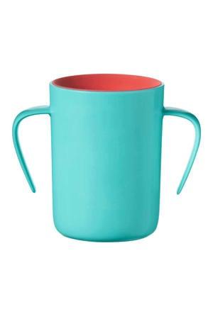 anti-lek drinkbeker met handvaten 360 Cup 6 maand+ (groen)
