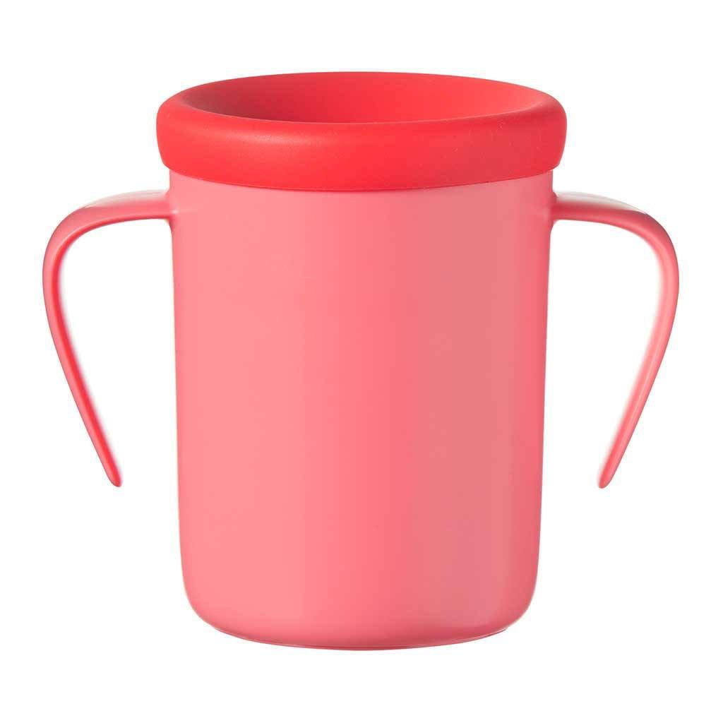 Tommee Tippee anti-lek drinkbeker met handvaten 360 Cup 6 maand+ (rood), Rood, 200