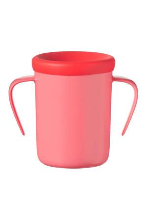 anti-lek drinkbeker met handvaten 360 Cup 6 maand+ (rood)