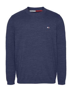 gemêleerde trui van biologisch katoen donkerblauw