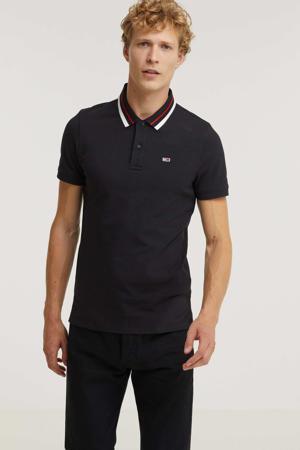 regular fit T-shirt met biologisch katoen zwart