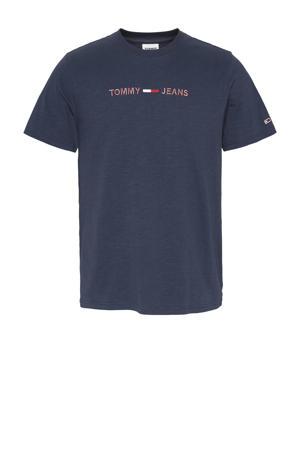 T-shirt van biologisch katoen donkerblauw