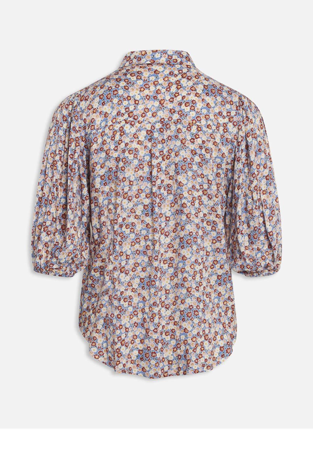 SisterS Point gebloemde blouse ELLA-SH3 blauw, Blauw