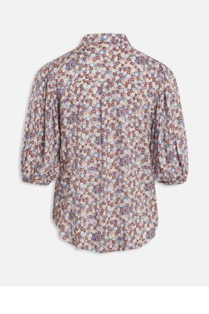 gebloemde blouse ELLA-SH3 blauw