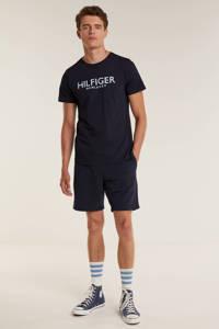 Tommy Hilfiger regular fit sweatshort met biologisch katoen donkerblauw, Donkerblauw