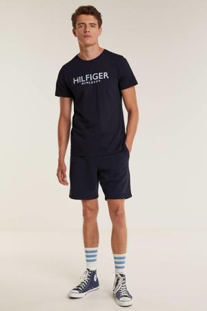 regular fit sweatshort met biologisch katoen donkerblauw