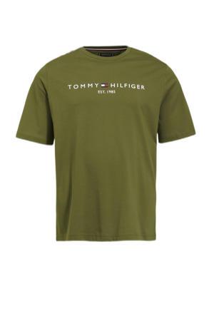 +size T-shirt Plus Size van biologisch katoen putting green