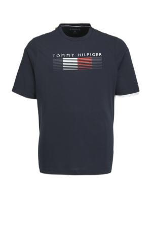 +size T-shirt Fade graphic corp Plus Size van biologisch katoen donkerblauw