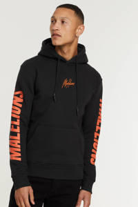Malelions hoodie met logo antra/orange, Antra/Orange