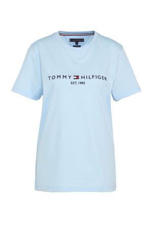 T-shirt van biologisch katoen breezy blue