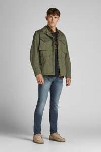 JACK & JONES JEANS INTELLIGENCE slim fit jeans JJIGLENN JJFOX blue denim, Blue denim