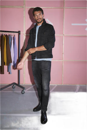 slim fit jeans JJITIM JJORIGINAL zwart
