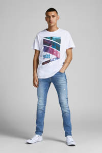 JACK & JONES T-shirt JJURBAN-CITY met logo wit, Wit