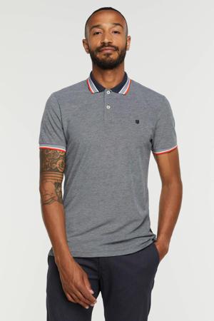 regular fit T-shirt JJNEON met contrastbies navy blazer