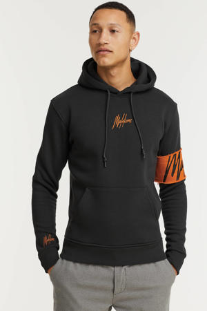hoodie Captain met logo antra/orange