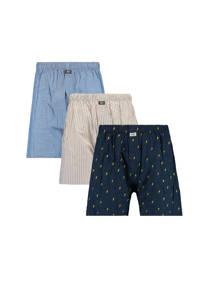 America Today boxershort (set van 3), Blauw/donkerblauw/grijs
