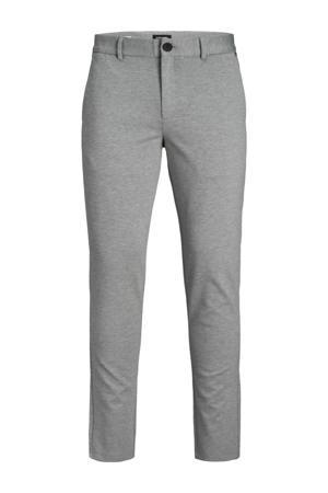 gemêleerde regular fit broek Marco Phil  light grey melange