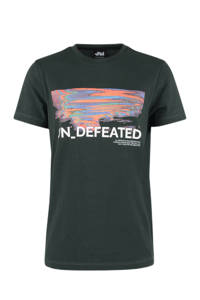 Shoeby Jill & Mitch T-shirt met printopdruk donkergroen, Donkergroen