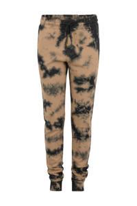 Shoeby Jill & Mitch joggingbroek Ezra met tie-dye print camel/zwart, Camel/zwart