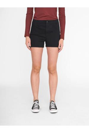 high waist jeans short NMMOLLY HW SKINNY DNM SHORTS VI023BL zwart