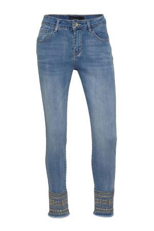 skinny jeans BRODIE met borduursels blue bleached