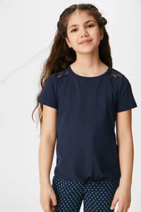 C&A Here & There T-shirt van biologisch katoen donkerblauw, Donkerblauw