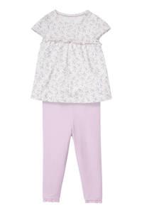 C&A Baby Club T-shirt + legging lila/wit, Lila/wit