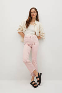 Mango high waist kick flared jeans roze, Roze