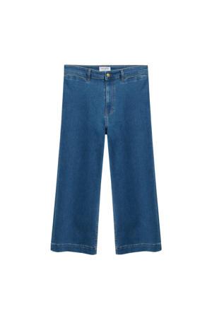 cropped high waist loose fit jeans blue denim