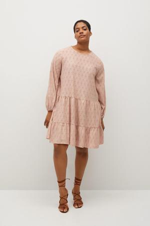 A-lijn jurk met volant roze