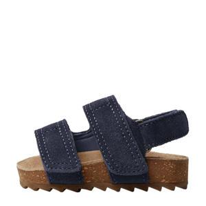 leren sandalen donkerblauw