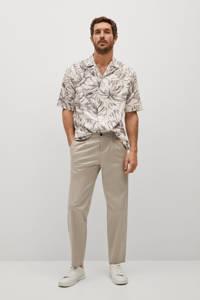 Mango Man gebloemd regular fit overhemd wit, Wit