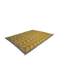 Bo-Camp chill mat Flaxton M (200x180 cm), Geel/grijs